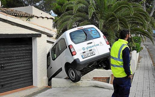 El conductor perdió el control del vehículo.