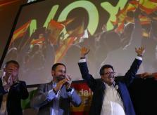 Santiago Abascal junto a Francisco Serrano