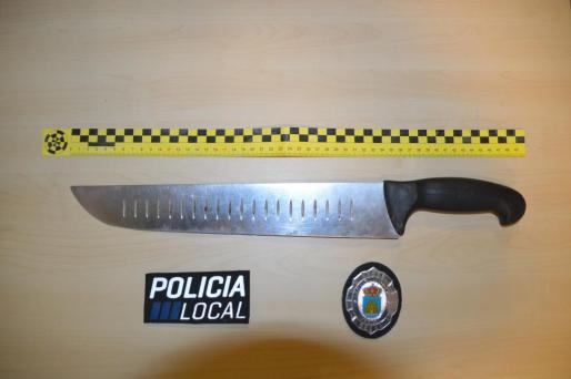 Imagen del cuchillo de grandes dimensiones.