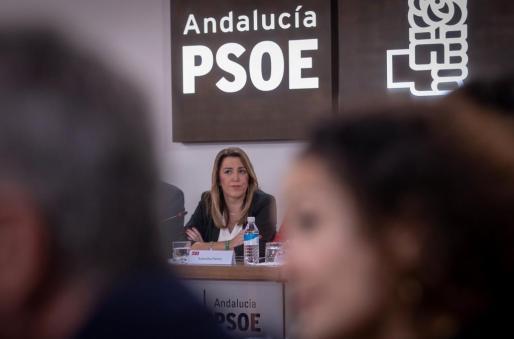 La presidenta andaluza y secretaria general del PSOE-A, Susana Díaz, durante la reunión del Comité Ejecutivo.