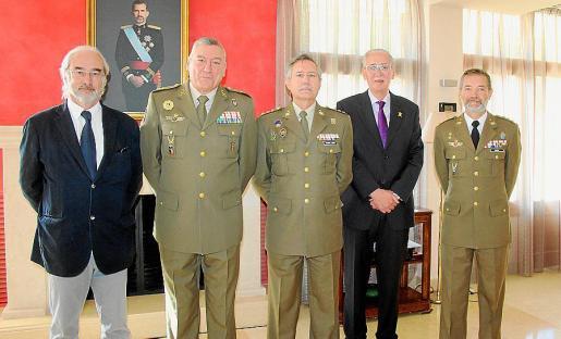 Ramón Morey, Juan Cifuentes, Jesús García-Lidón, Pedro Comas y Jesús Lanza.