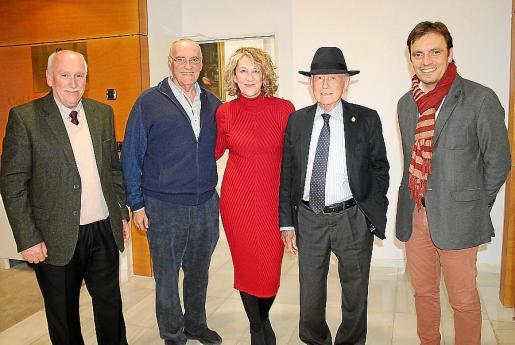 Nadal Torres, Enric Benito, Rosa Robles, Alfonso Ballesteros y Francesc Miralles.