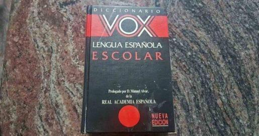 Imagen de un diccionario Vox de la editorial Anaya.