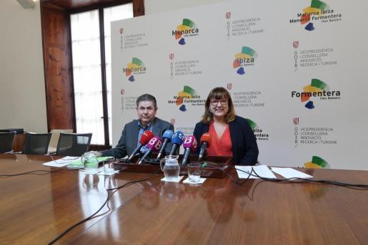 Antoni Sansó y Bel Busquets, en rueda de prensa este miércoles.