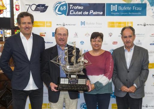 Imagen de la presentación del 68 Trofeo Ciutat de Palma Bufete Frau de vela celebrada hoy.