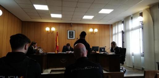 El acusado, este miércoles en un juzgado de lo Penal de Palma.