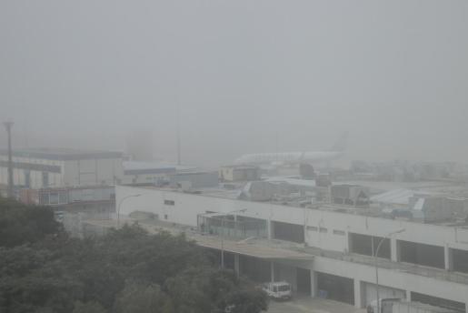 Niebla en el aeropuerto de Palma.