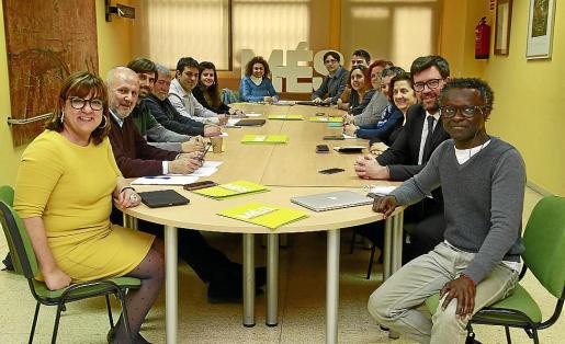 Imagen de archivo de la reunión de la ejecutiva de Més.