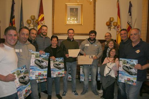 Imagen de la presentación del Rallysprint de Santanyí, en el Ajuntament de la localidad.
