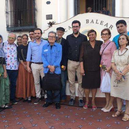 El alcalde en la 'Casa balear l'Havana'.