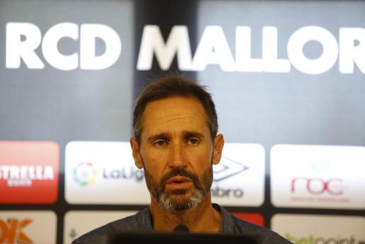 Vicente Moreno, durante una reciente rueda de prensa.