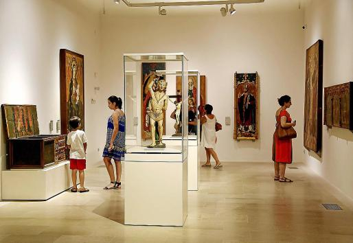 Vista de una de las salas del Museu de Mallorca, en Palma.