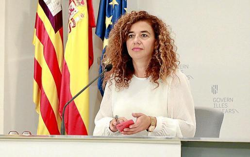 La consellera Pilar Costa es, además, la portavoz del Govern.