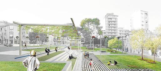 El proyecto de la Plaça Mallorca ofrecerá una gran zona verde a los ciudadanos.