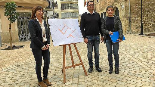 Presentación de la zona para peatones en los alrededores del claustro.