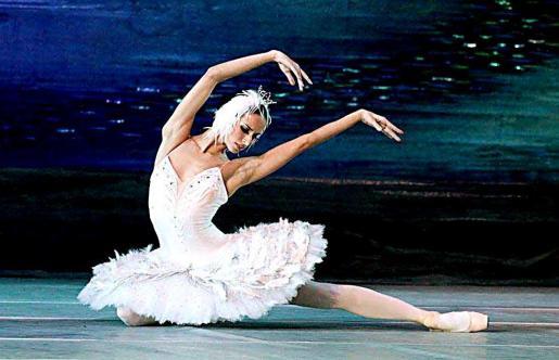 Imagen de una de las escenas de 'El lago de los cisnes', a cargo del Ballet de Moscú.