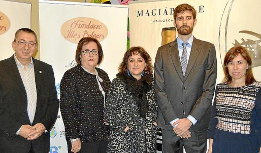 Miquel Àngel Maria Ballester, Francisca Barceló, Francisca Coll, Dib Norad y Antònia Paniza.