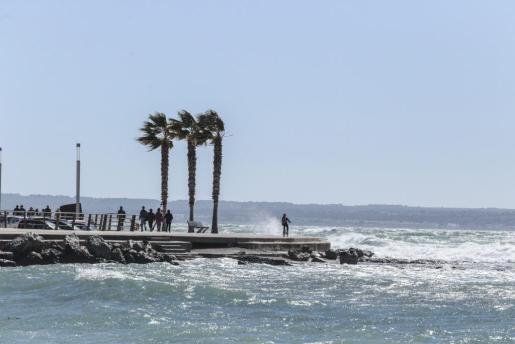 Imagen de la borrasca 'Félix' que en marzo dejó en Baleares rachas de viento de hasta 70 kilómetros por hora.