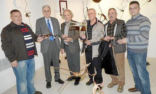 Juan Alfonso, Pere Comas, director de Ultima Hora; Pep Roig, Enrique Lázaro, Emilio Martínez Lubrín y Juanjo Roig.