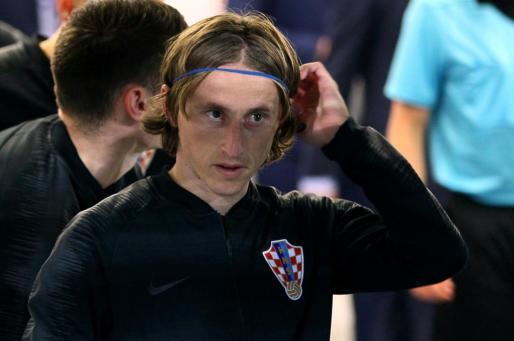 Luka Modric, en una imagen captada con la selección de Croacia.