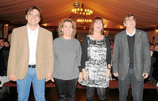 Francesc Miralles, Aina Calvo, Francina Armengol y Francesc Antich.