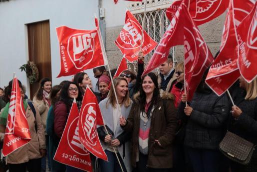 Los trabajadores del centro Gaspar Hauser de Palma han secundado la primera jornada de huelga.