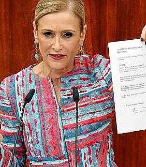 Cristina Cifuentes, expresidentra de la Comunidad de Madrid.