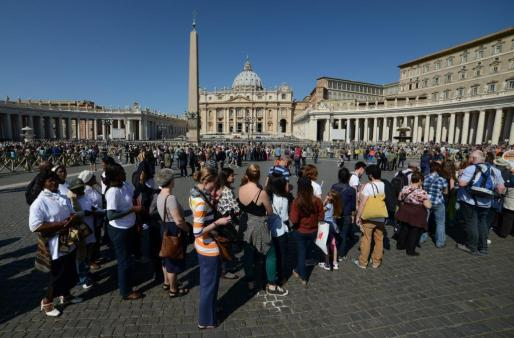 La plaza de San Pietro del Vaticano.