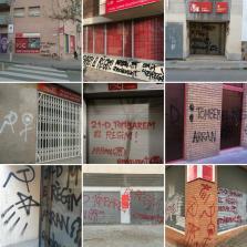 Arran firma las pintadas realizadas en 14 sedes de PSC llamando a «tumbar el régimen» el 21D