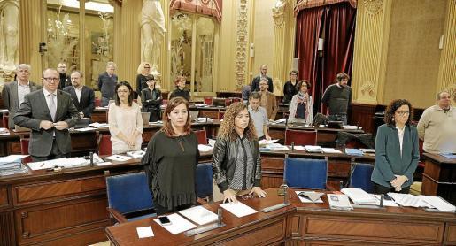 El pleno guardó un minuto de silencio por el asesinato de Laura Luelmo, crimen machista que ha causado una oleada de condenas.
