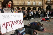 Concentración en la plaza mayor de Salamanca