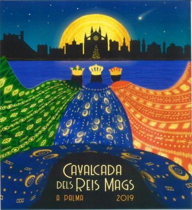 Cartel de la Cabalgata de los Reyes Magos de Palma.