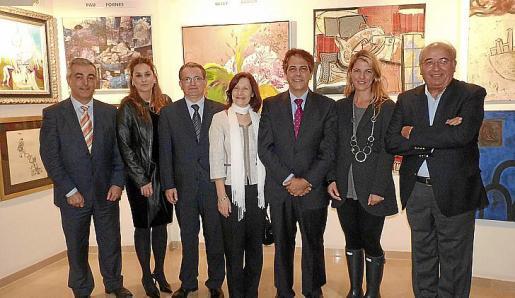 Miguel Barceló, Rosa Vanrell, Joan Rotger, Catalina Sureda, Rafael Bosch, Esperanza Rechach y Gabriel Vanrell.