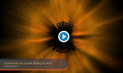 Vídeo de cómo el Ejército el puente militar de Artà.