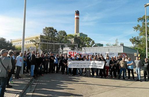 Una concentración de los trabajadores de Es Murterar, el pasado mes de noviembre.