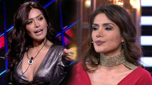 Miriam Saavedra, en diferentes momentos del programa.
