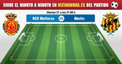 El Real Mallorca recibe en su estadio al Nàstic de Tarragona para despedir el 2018.