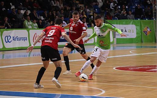 Imagen del partido que enfrentó al Palma Futsal con el Futbol Emotion Zaragoza.