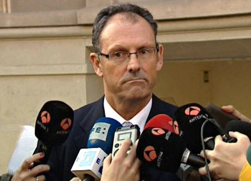 Imagen tomada de Efe Tv del abogado Mario Pascual Vives, que actúa como portavoz de Iñaki Urdangarín.