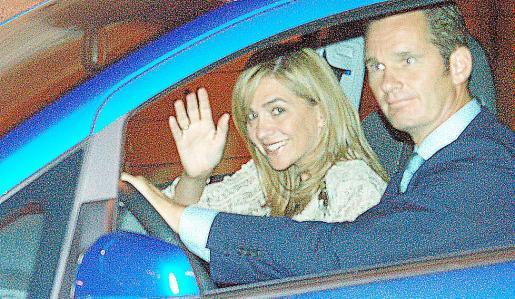 La Infanta y su marido acuden a una cena en Palma.