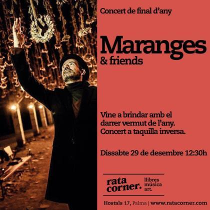 Jordi Maranges ofrecerá un concierto acústico en Rata Corner.