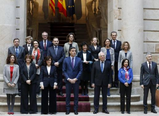 El Consejo de Ministros en la reunión que tuvo lugar en Barcelona.