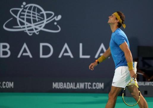 Rafael Nadal durante el encuentro ante Kevin Anderson.