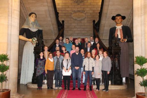 Antoni Noguera ha presidido este viernes el homenaje a los 18 funcionarios municipales que se han jubilado a lo largo de 2018.
