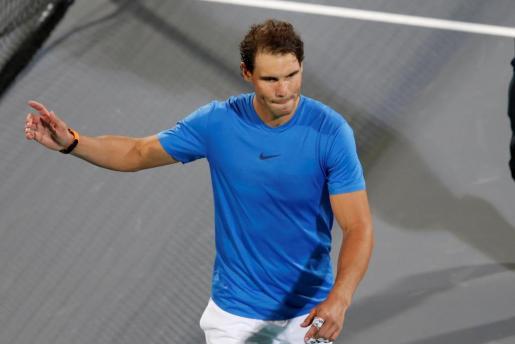Rafael Nadal tras su derrota ante el sudafricano Kevin Anderson.