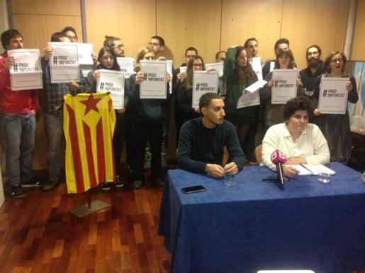 Arran Palma durante la rueda de prensa celebrada este sábado en Can Alcover.