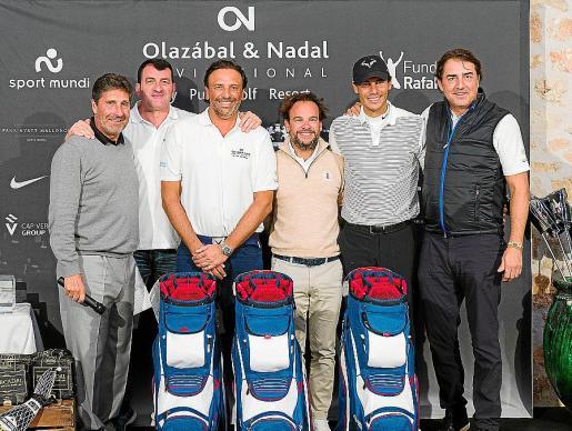 Txema Olazábal, Jesús María Calvo, Toni García Ruiz, Juanmi Ferrer, Rafael Nadal y Ernesto Robledo.
