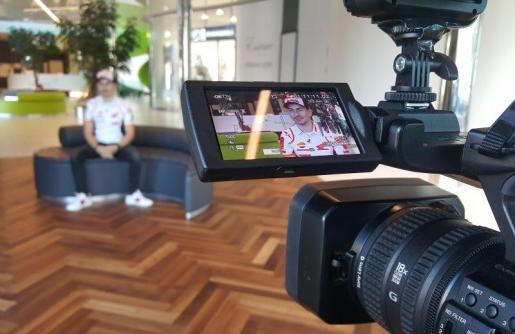 Jorge Lorenzo ofrece su primera entrevista como piloto del equipo Repsol Honda.