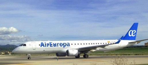 Imagen de uno de los aviones de Air Europa.