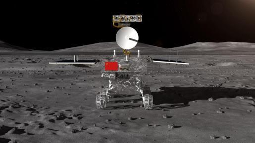 El vehículo lunar de la sonda lunar Chang'e-4.